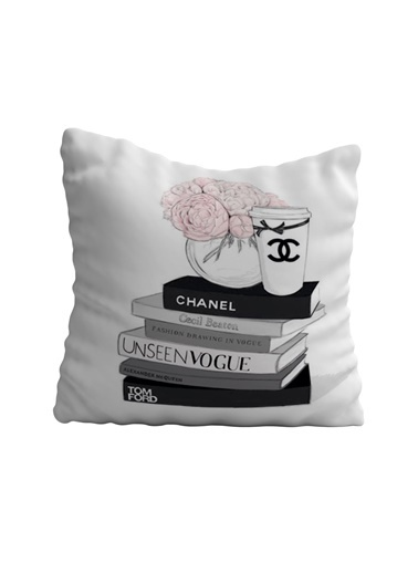 Lyn Home & Decor Chanel Siyah Kitaplar Yastık Kılıfı 42X42 Renkli